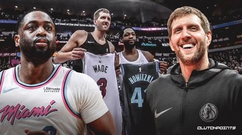 Video: Dwyane Wade, Dirk Nowitzki exchange jerseys after Heat-Mavs game