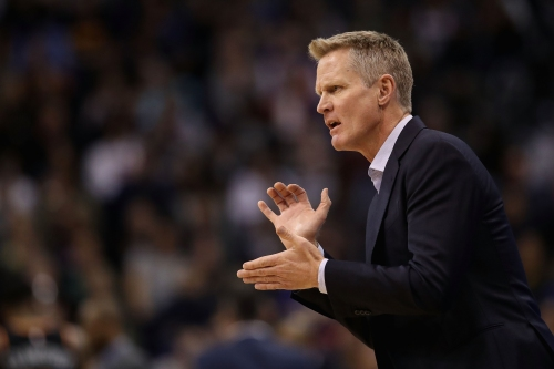 Trail Blazers 129, Warriors 107: Steve Kerr gets tossed and slams a clipboard