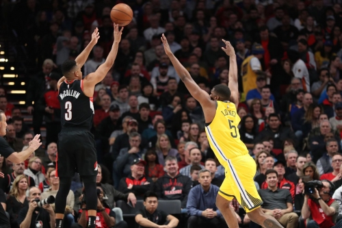 Portland Bench Rides High, Blazers Drop Warriors, 129-107