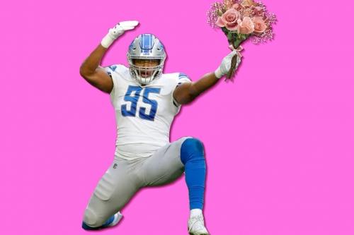 2019 Detroit Lions Valentine's Day Cards