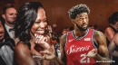 Regina King reacts to Joel Embiid jumping over her at Madison Square Garden
