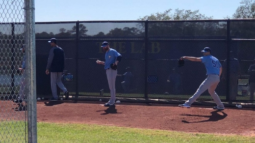 Live from Port Charlotte: Pitching and catching for Rays today