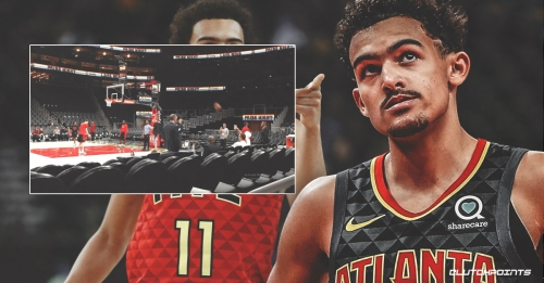 Video: Hawks' Trae Young nails warm-up shot while sitting on Atlanta bench