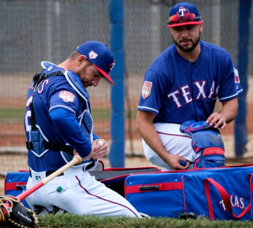 Rangers set goal for Jeff Mathis he hasn't accomplished since 2008. Here's why the Texas' new catcher feels he's up to it.