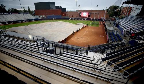 New Hillenbrand Stadium will have to wait; rain soaks away Wildcats' home opener