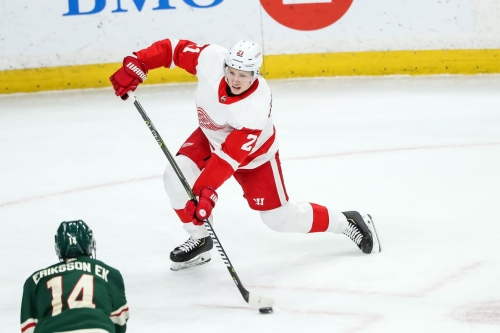 Red Wings assign Dennis Cholowski, Martin Frk to Griffins