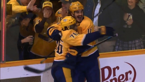Brian Boyle nets first goal with Predators with a powerful slapshot
