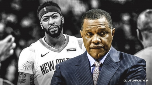 Pelicans coach Alvin Gentry leaves interview after question about Anthony Davis leaving arena