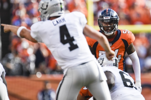 Linebacker Brandon Marshall's six-year stay with Broncos could be over