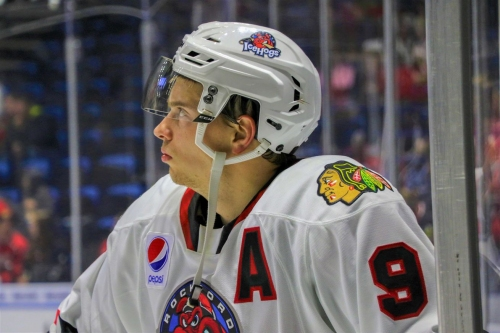 Highmore returns to IceHogs' practice 3 months after shoulder surgery