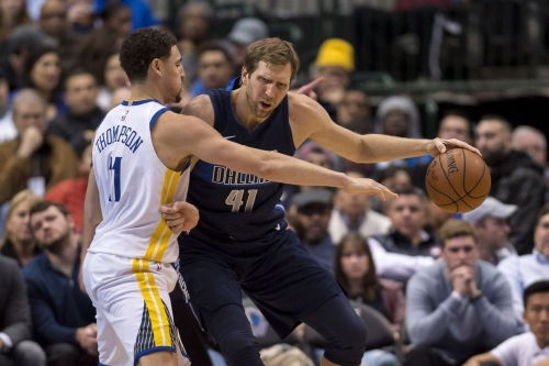 Klay Thompson thinks Buddy Hield or Dirk Nowitzki will win the three-point contest