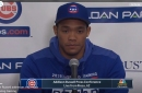 Addison Russell took questions from the media in Mesa