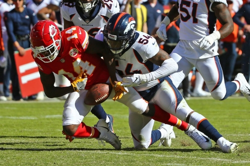 What do the Broncos do now at middle linebacker?