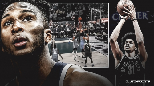Video: Timberwolves' Josh Okogie dunks on Nets' Jarrett Allen