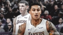 Lakers' Lonzo Ball reacts to Kyle Kuzma impersonating him in All-Star Rising Stars Challenge