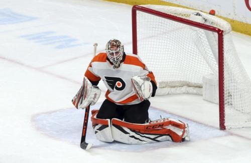 Flyers trade young goalie Stolarz for veteran Cam Talbot