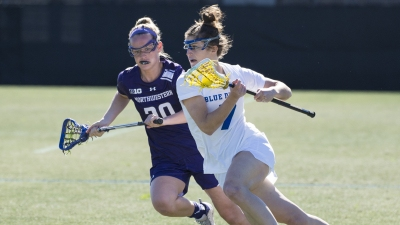 Dukes Faces First Road Test at No. 7 Northwestern
