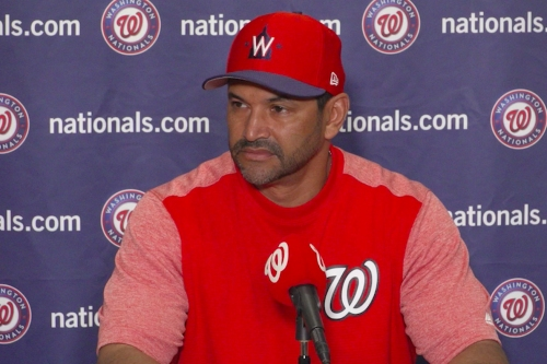 """Davey Martinez on Jeremy Hellickson having """"upper hand"""" in the battle for the fifth spot in the Nationals' 2019 rotation..."""