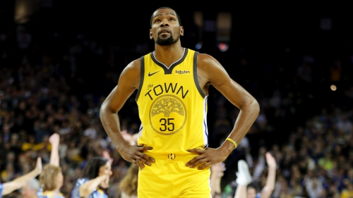 Warriors' Kevin Durant deflects free agency questions with more patience