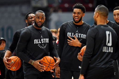 LeBron and Lillard Trade Halfcourt Shots During All-Star Practice