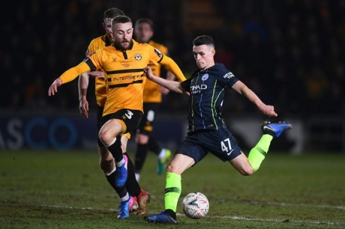 Pep Guardiola praises Phil Foden for his performance in Man City win vs Newport