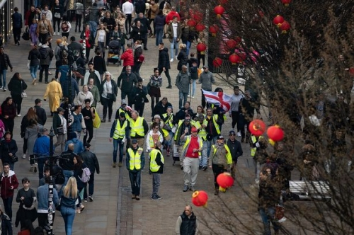 The latest Yellow Vest protest in Manchester city centre attracted just 15 people