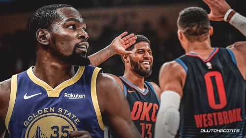 Warriors' Kevin Durant says there's 'nice synergy' between Thunder's Paul George, Russell Westbrook