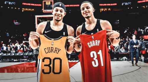 Warriors' Stephen Curry and Blazers' Seth Curry make big wager on 3-point contest