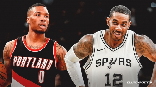 Spurs' LaMarcus Aldridge would like to swap jerseys with Blazers' Damian Lillard