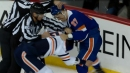 Oilers' Nurse fights Lee after high stick to the face