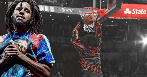 Video: J. Cole tries to dunk the ball after Knicks guard Dennis Smith Jr. in All-Star dunk contest