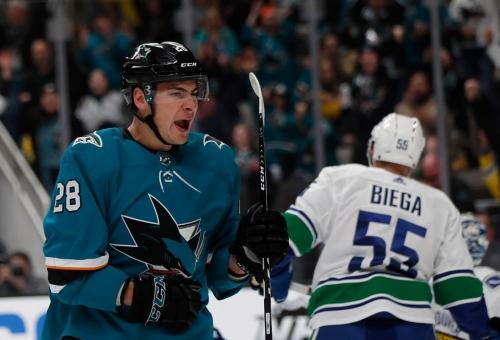 Sharks ride balanced attack past Canucks