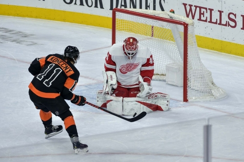 Flyers 6, Red Wings 5: Who's gonna score a hockey goal? Everyone, apparently