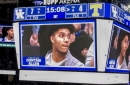Dontaie Allen honored during win over Vols; sits with Keion Brooks behind UK bench