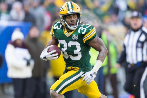 Aaron Jones graded as NFC North's best running back in 2018, says PFF