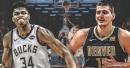 Video: Bucks' Giannis Antetokounmpo throws touchdown pass to Nuggets' Nikola Jokic in All-Star Game