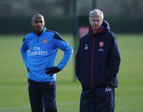 Arsene Wenger sends message to Thierry Henry following Monaco sacking last month