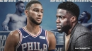 Ben Simmons tells Kevin Hart be believed in Sixers rookie curse after breaking his foot