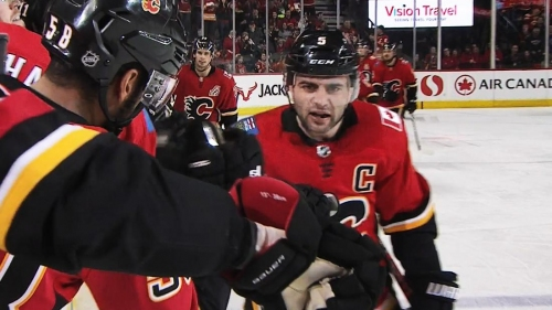 Flames' Mark Giordano sets new career high with goal vs. Coyotes