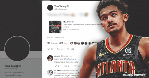Hawks' Trae Young reacts to not being invited to NBA TV's discussion about top rookies