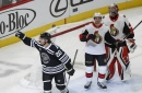 Hawks Edge Sens in Wild 15-Goal Game