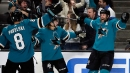 Joe Thornton scores hat trick but Sharks fall to Bruins in OT
