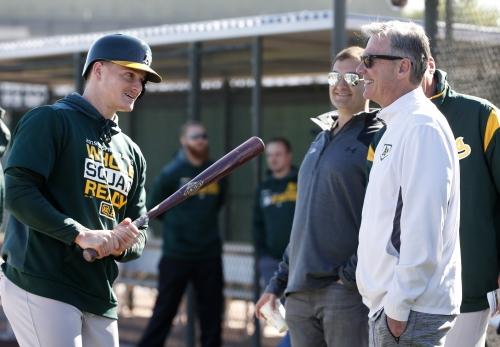 Matt Chapman talks progress on shoulder after first batting practice