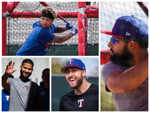 The Rangers are loaded with left-handed hitters. Last year they struggled. But there is new hope for the young sluggers