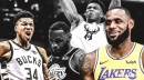 LeBron James tells Bucks' Giannis Antetokounmpo 'I love everything about you' after NBA All-Star Game