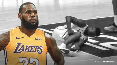 Lakers news: LeBron James reacts to Duke's Zion Williamson's injury