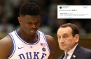 Luka Doncic has a message for college athletes after Zion Williamson's freak injury during Duke's loss vs. UNC