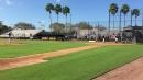 Greg Bird batting vs. James Paxton in simulated action at Yankees camp