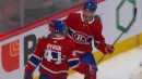 Kotkaniemi doubles Candiens' lead off a great play by Byron