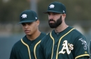 Mike Fiers gets tough test in A's spring debut and impresses